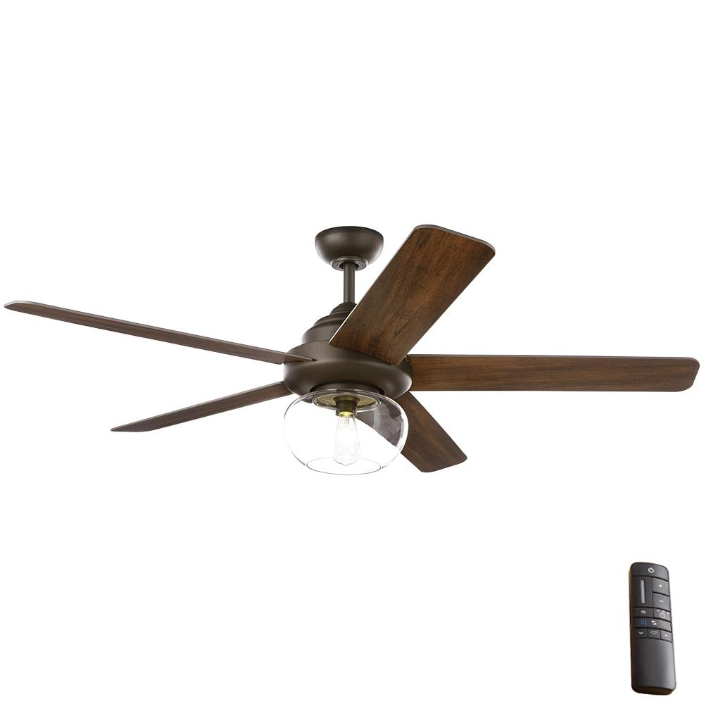 Home Decorators Collection Home Decorators Collection Avonbrook 56 in. LED Bronze Ceiling Fan with Light Kit and Remote Control