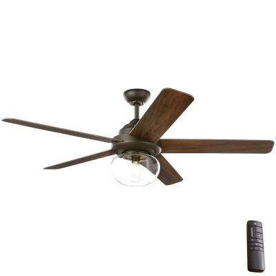 Avonbrook 56 in. LED Bronze Ceiling Fan with Light Kit and Remote Control