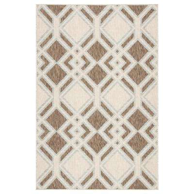 Decora by Nikki Chu Trellis 5 ft. 3 in. x 7 ft. 6 in. Brown Area Rug