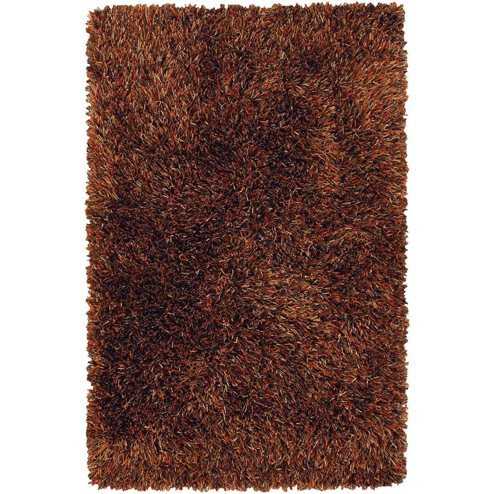 Iris Brown/Rust/Chocolate 5 ft. x 7 ft. 6 in. Indoor Area
