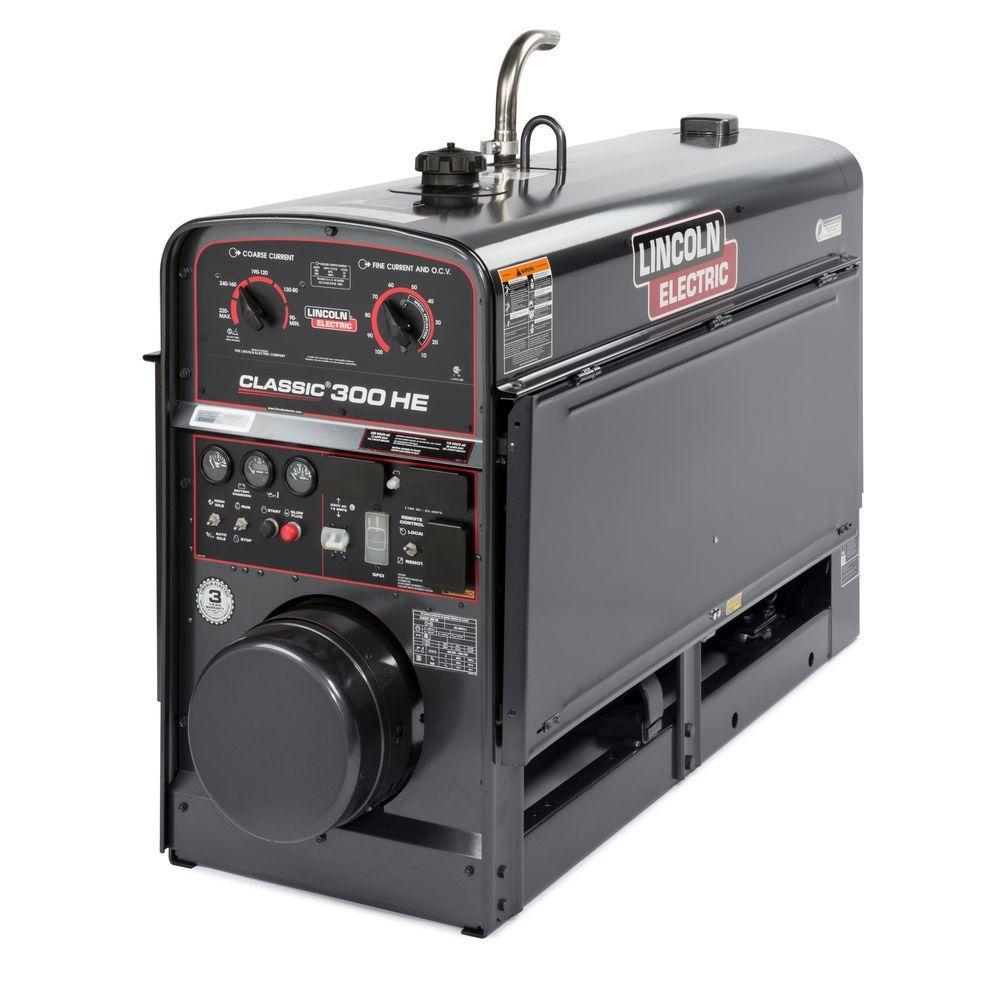 300 Amp Classic 300 HE Diesel Engine Driven Multi-Process DC Welder, 3 kW Peak Generator (Kubota Tier 4 Diesel)