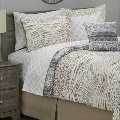 Tempest 8-Piece Taupe King Bed in a Bag