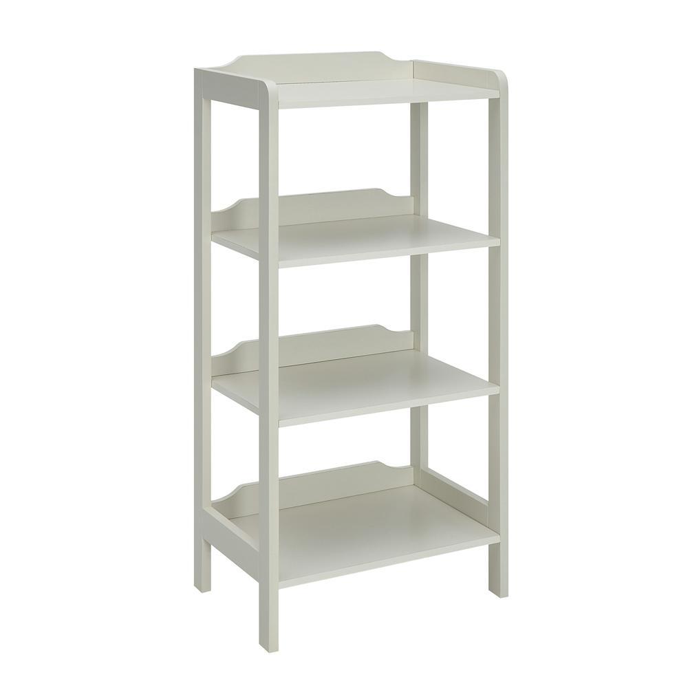 USL Sadie Polar White Small Office Bookcase