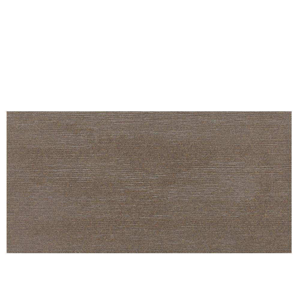 Daltile Identity Oxford Brown Grooved 12 in. x 24 in. Porcelain Floor and Wall Tile (11.62 sq. ft. / case) - DISCONTINUED