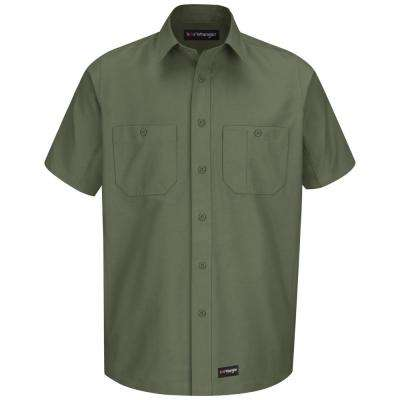 Men's Size 2XL (Tall) Olive Green Work Shirt