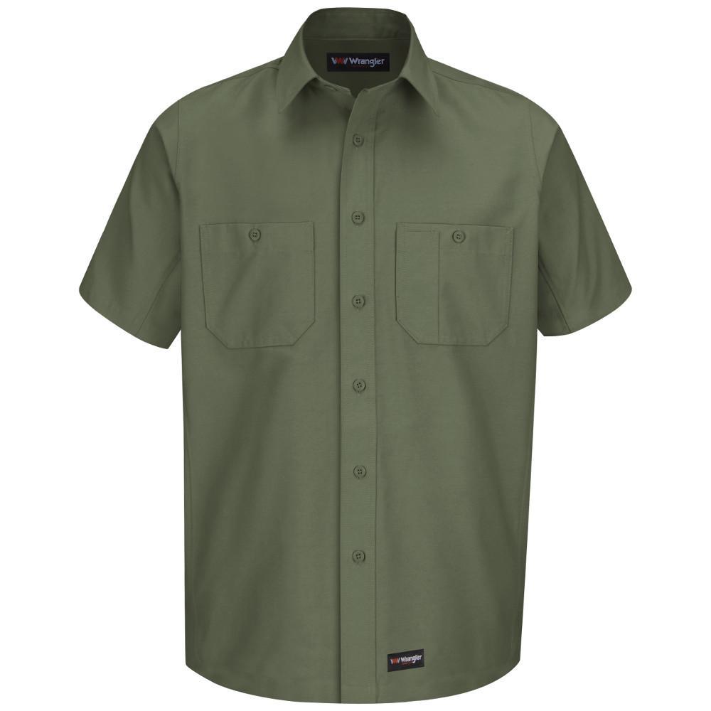 Men's Size 3XL Olive Green Work Shirt