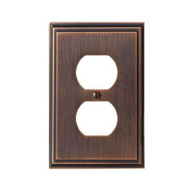 Mulholland 1-Duplex Outlet Wall Plate, Oil-Rubbed Bronze