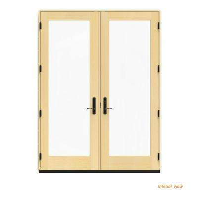 72 in. x 96 in. W-4500 Vanilla Clad Wood Left-Hand Full Lite French Patio Door w/Lacquered Interior