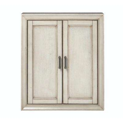Hazelton 25 in. W Bathroom Storage Wall Cabinet in Antique Grey