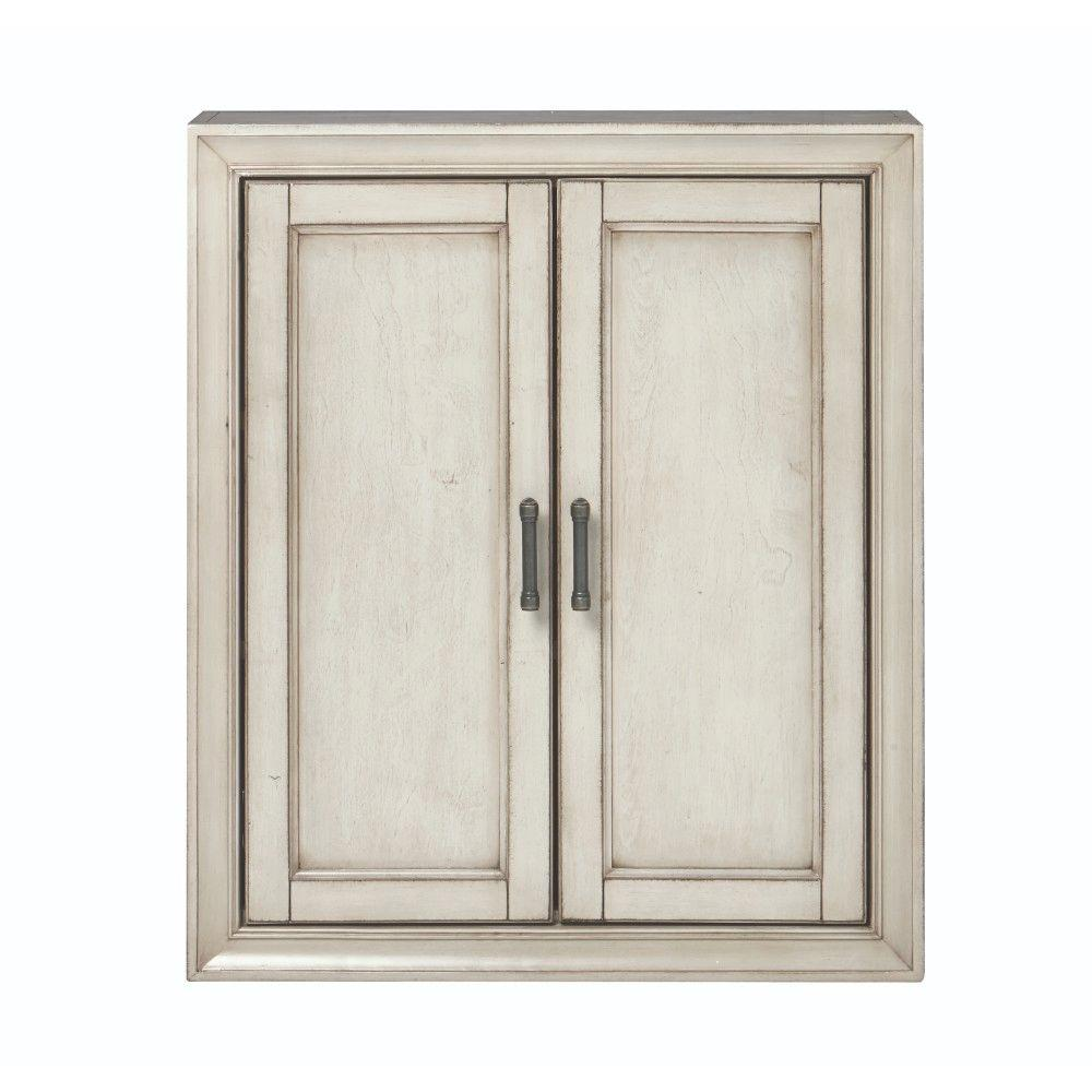 Home Decorators Collection Hazelton 25 in. W Bathroom Storage Wall Cabinet  in Antique Grey - Home Decorators Collection Hazelton 25 In. W Bathroom Storage Wall