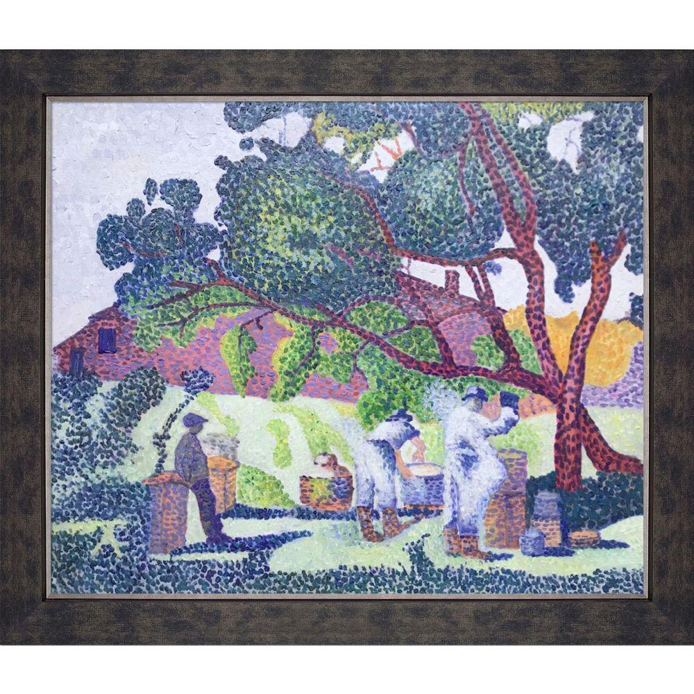 LA PASTICHE The Farm, Morning with Suede Premier Frameby Henri-Edmond Cross Oil Painting, Multi-Colored was $1371.0 now $450.9 (67.0% off)
