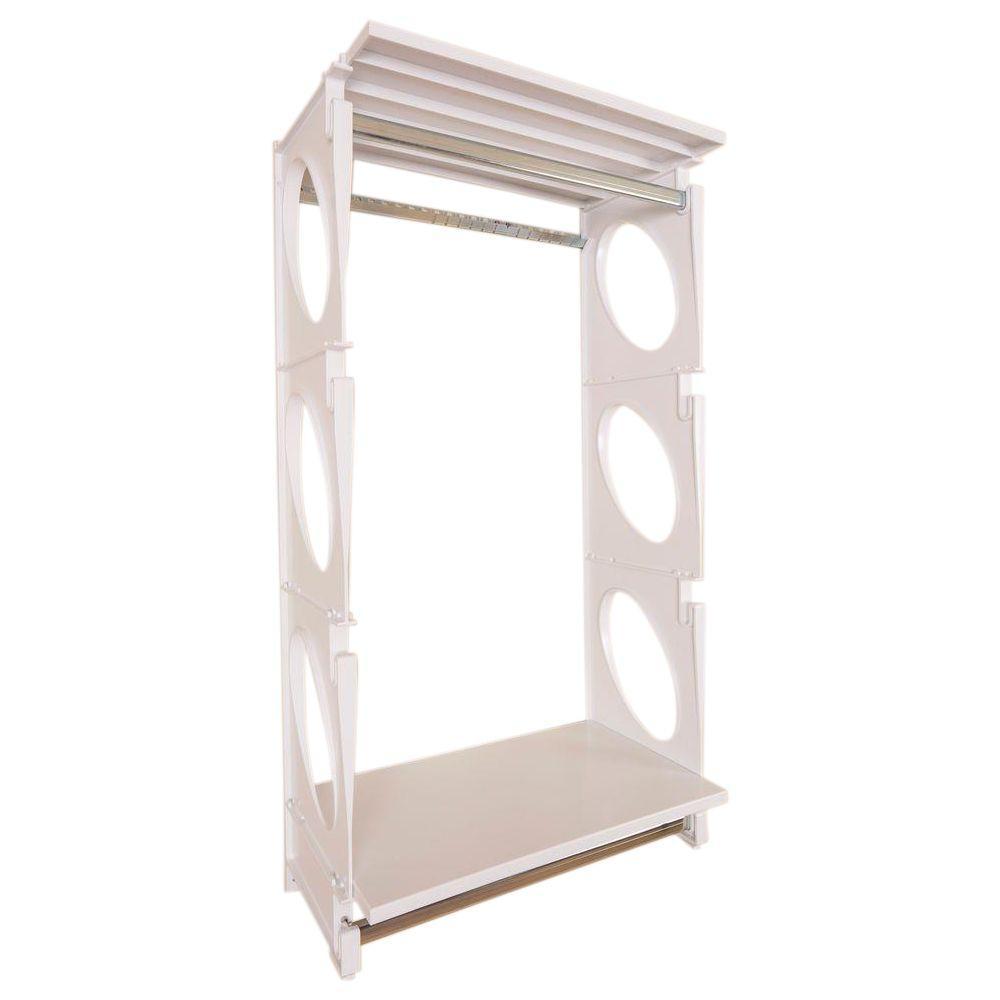 Urban Essential 48 in. H x 25.5 in. W x 14 in. D Closet Shelving Kit in White