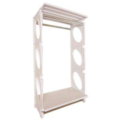 Urban Essential 48 in. H x 25.5 in. W x 14 in. D Closet Shelving Kit in White