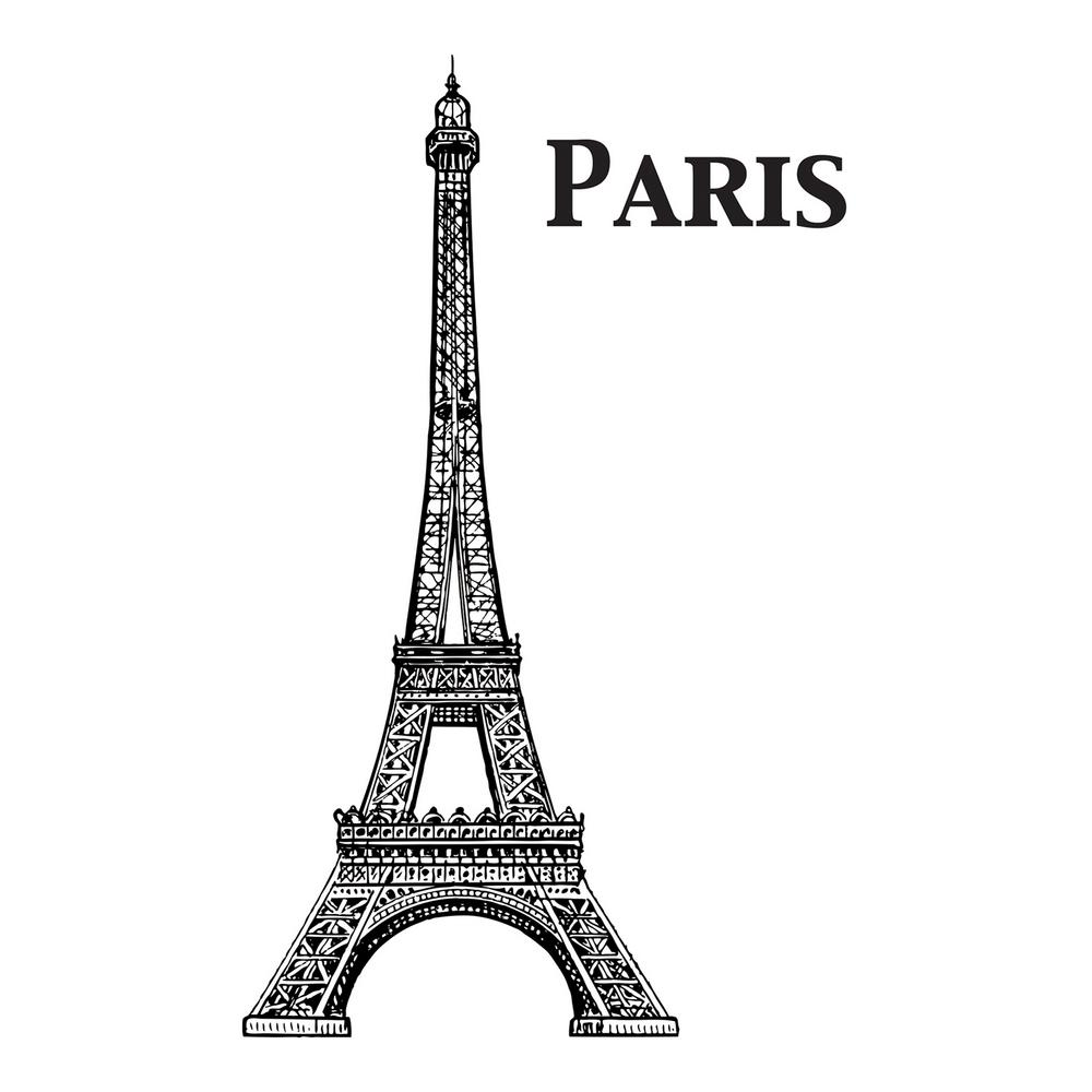 478e09d8bd4 Brewster 110.2 in. x 39.4 in. Eiffel Tower Wall Decal-CR-81133 - The ...