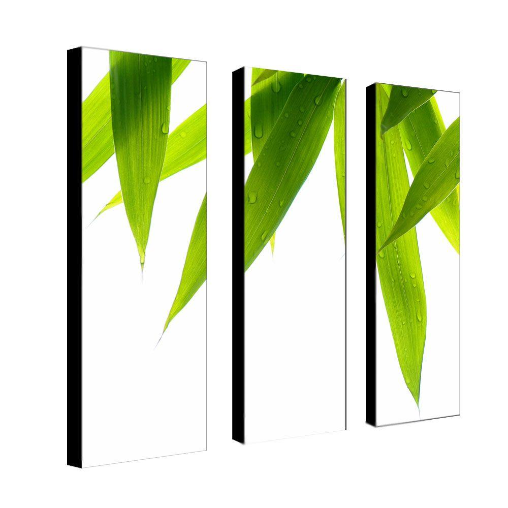 Trademark Fine Art 8 in. x 24 in. Life is Green 3-Piece Canvas Art Set-DISCONTINUED