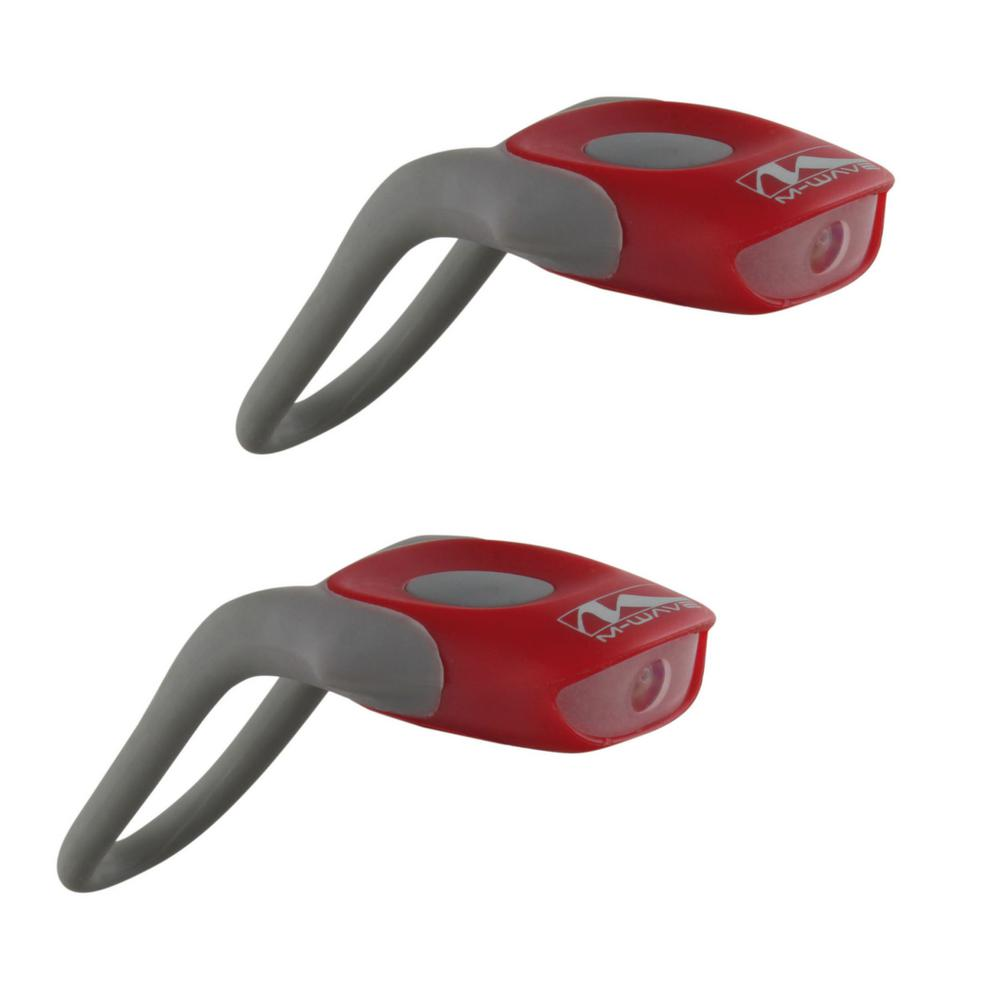 Ventura Cobra Bike Lights with White and Red LED in Red
