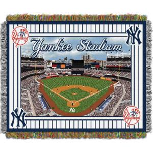 Yankees Multi Color Stadium Tapestry throw by