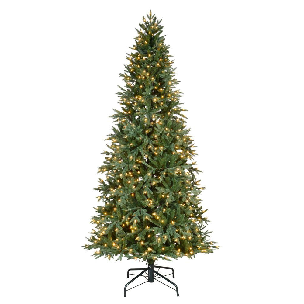 Artificial Christmas Trees Pre Lit Led: Home Accents Holiday 9 Ft. Pre-Lit LED Meadow Fir