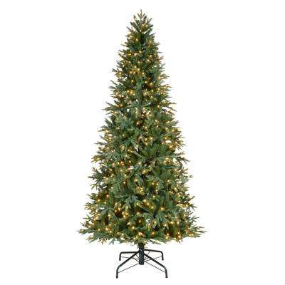 9 ft. Pre-Lit LED Meadow Fir Artificial Christmas Tree with 800 Warm White Lights