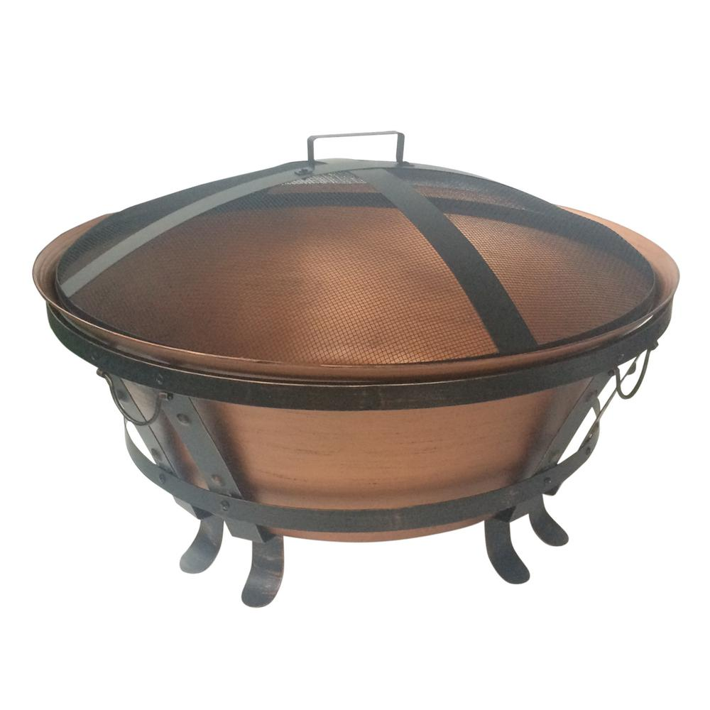 Hampton Bay 34 in. Whitlock Cast Cauldron Fire Pit