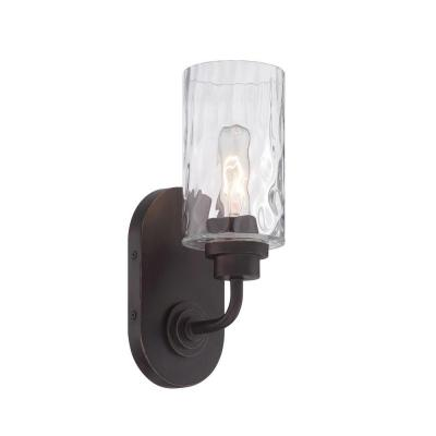 Gramercy Park 1-Light Old English Bronze Interior Incandescent Bath Vanity Light