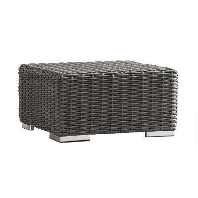 Camari Charcoal Wicker Outdoor Ottoman