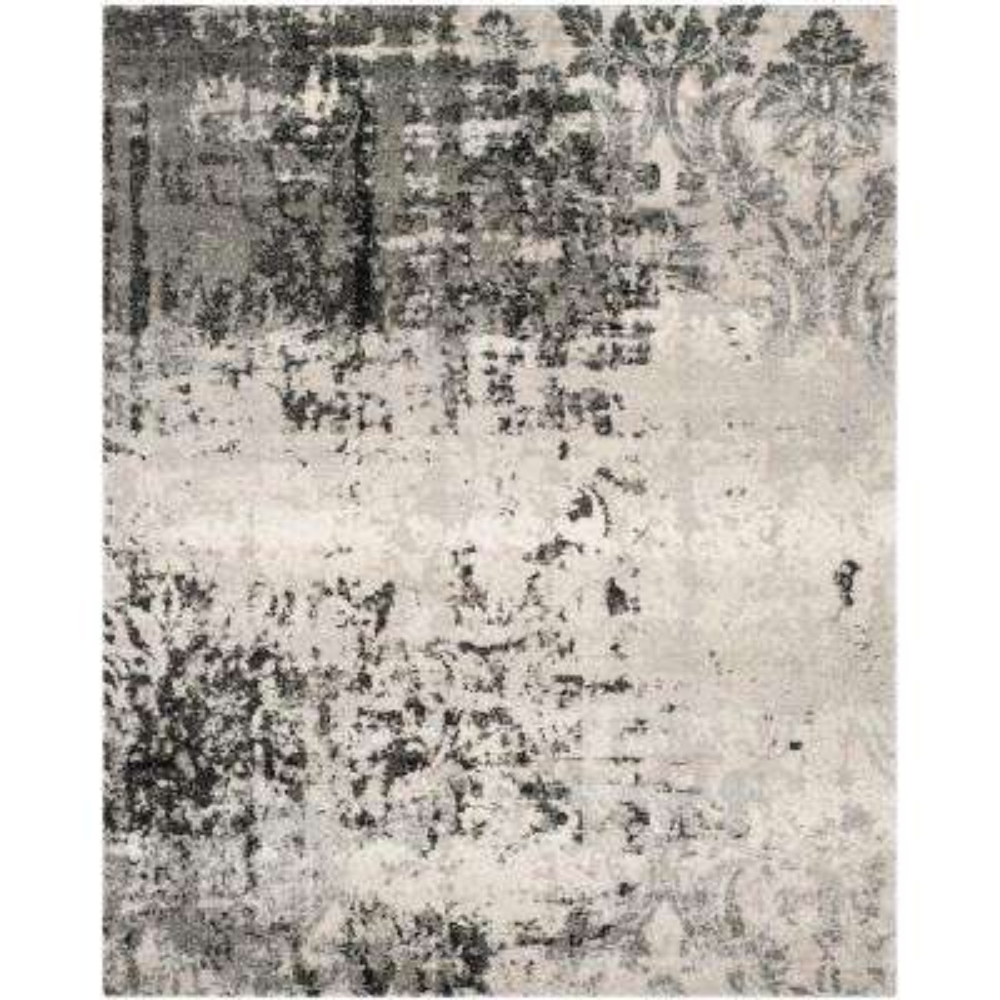 Retro Light Gray/Gray 9 ft. x 12 ft. Area Rug