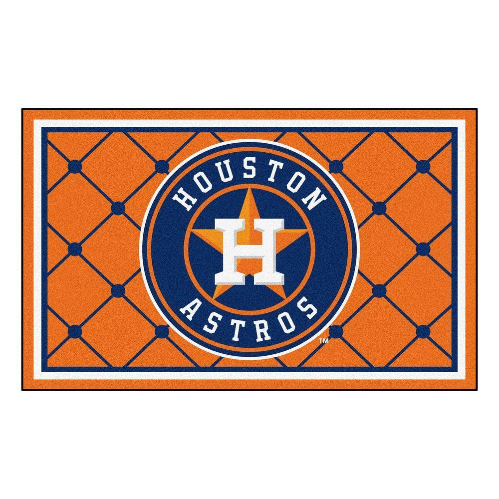 Houston Astros 4 ft. x 6 ft. Area Rug
