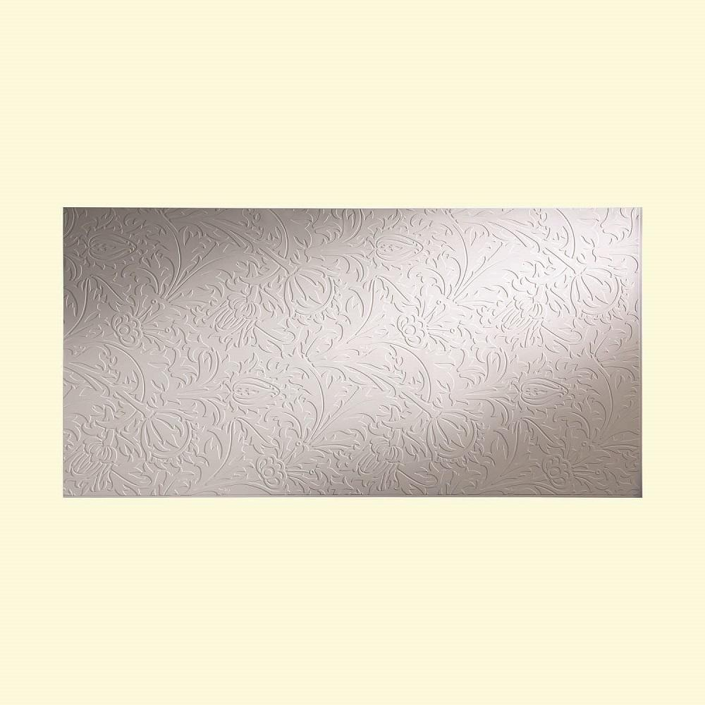 Fasade Nettle 96 in. x 48 in. Decorative Wall Panel in Ma...