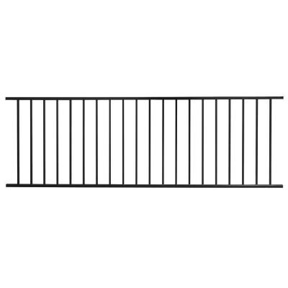 Pro Series 32 in. H x 93 in. W Black Steel Fence Panel
