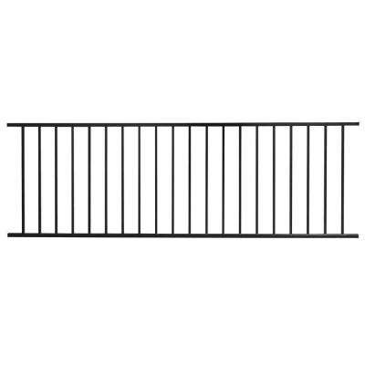 Pro Series 32 in. H x 93 in. W Black Steel Fence Panel