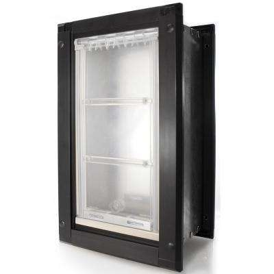 6 in. x 11 in. Small Single Flap for Walls with Black Aluminum Frame