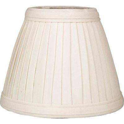 Stretch empire eggshell pleated faux silk chandelier shade
