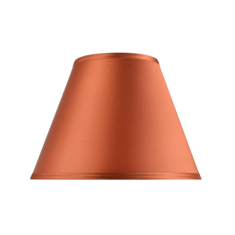 12 in. x 9 in. Burnt Orange Hardback Empire Lamp Shade