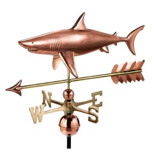 Good Directions Shark with Arrow Weathervane-Pure Copper by Good Directions