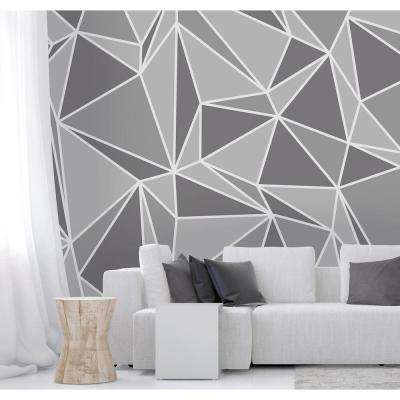 Grey Radian Wall Mural