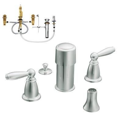 Brantford 2-Handle Bidet Faucet Trim Kit with Valve in Chrome