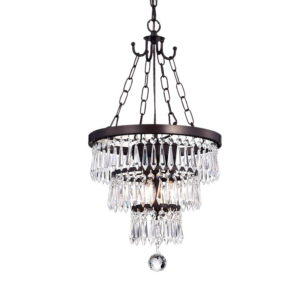 Warehouse of Tiffany Michana 3Light Bronze Chandelier with Crystal