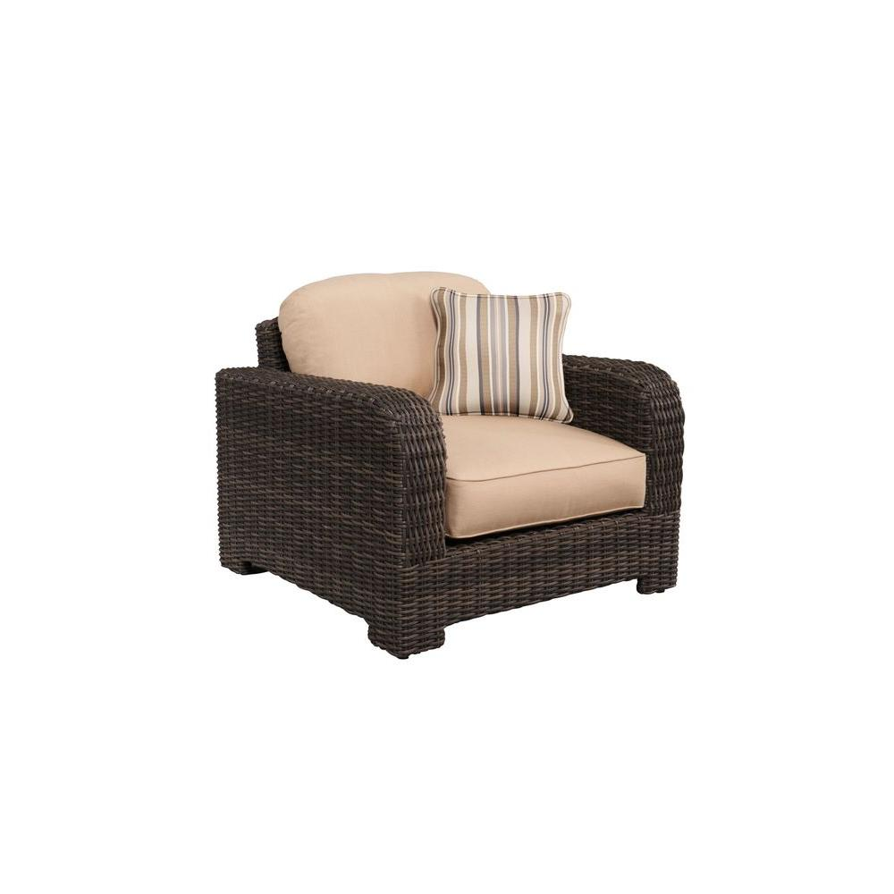 Northshore Patio Lounge Chair with Harvest Cushions and Terrace Lane Throw