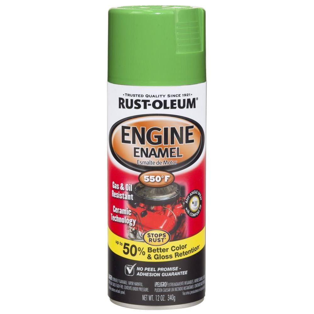 Rust-Oleum Automotive 12 oz. 550 Degree Gloss Grabber Green Ceramic Engine Enamel Spray Paint (Case of 6)