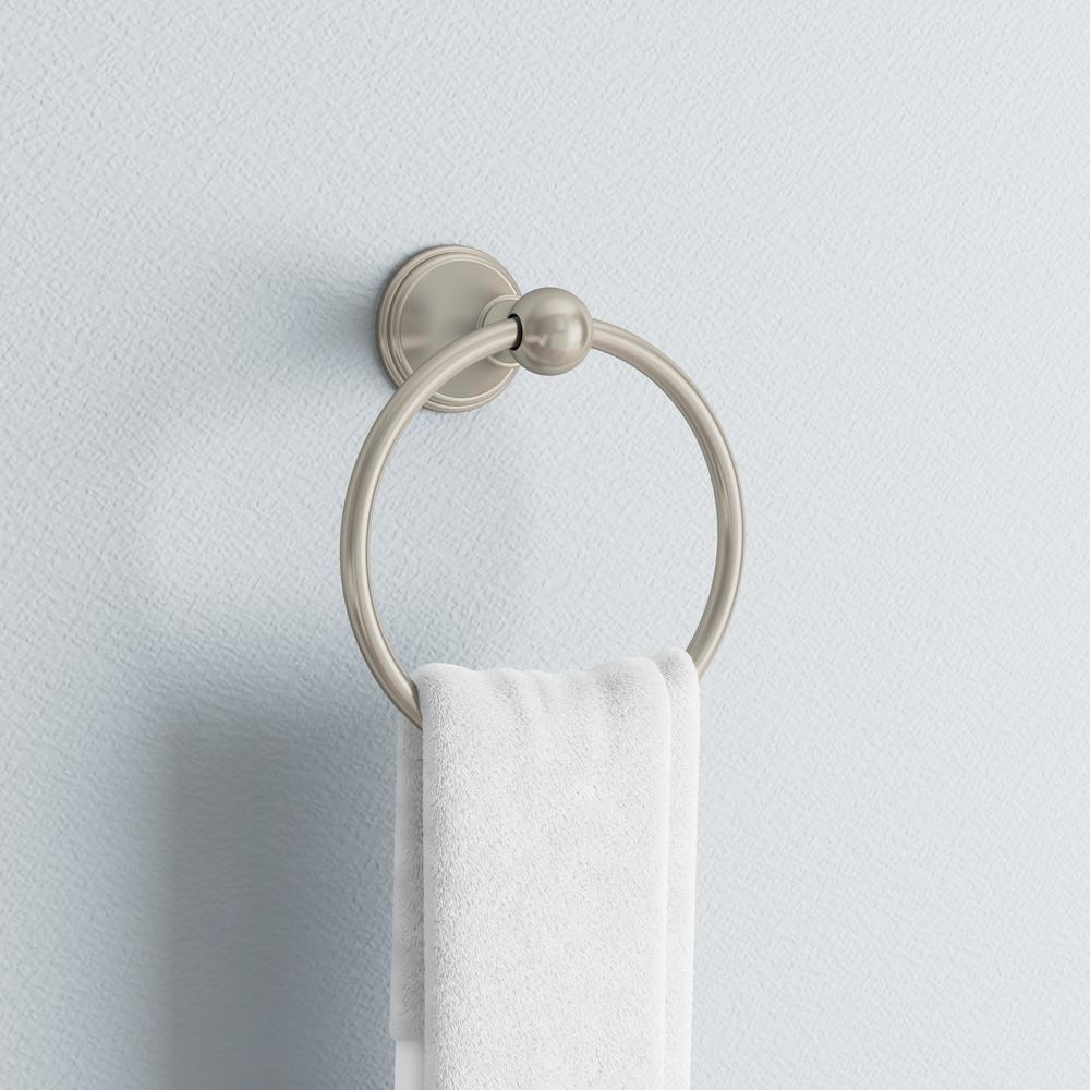 Crestfield Towel Ring in SpotShield Brushed Nickel