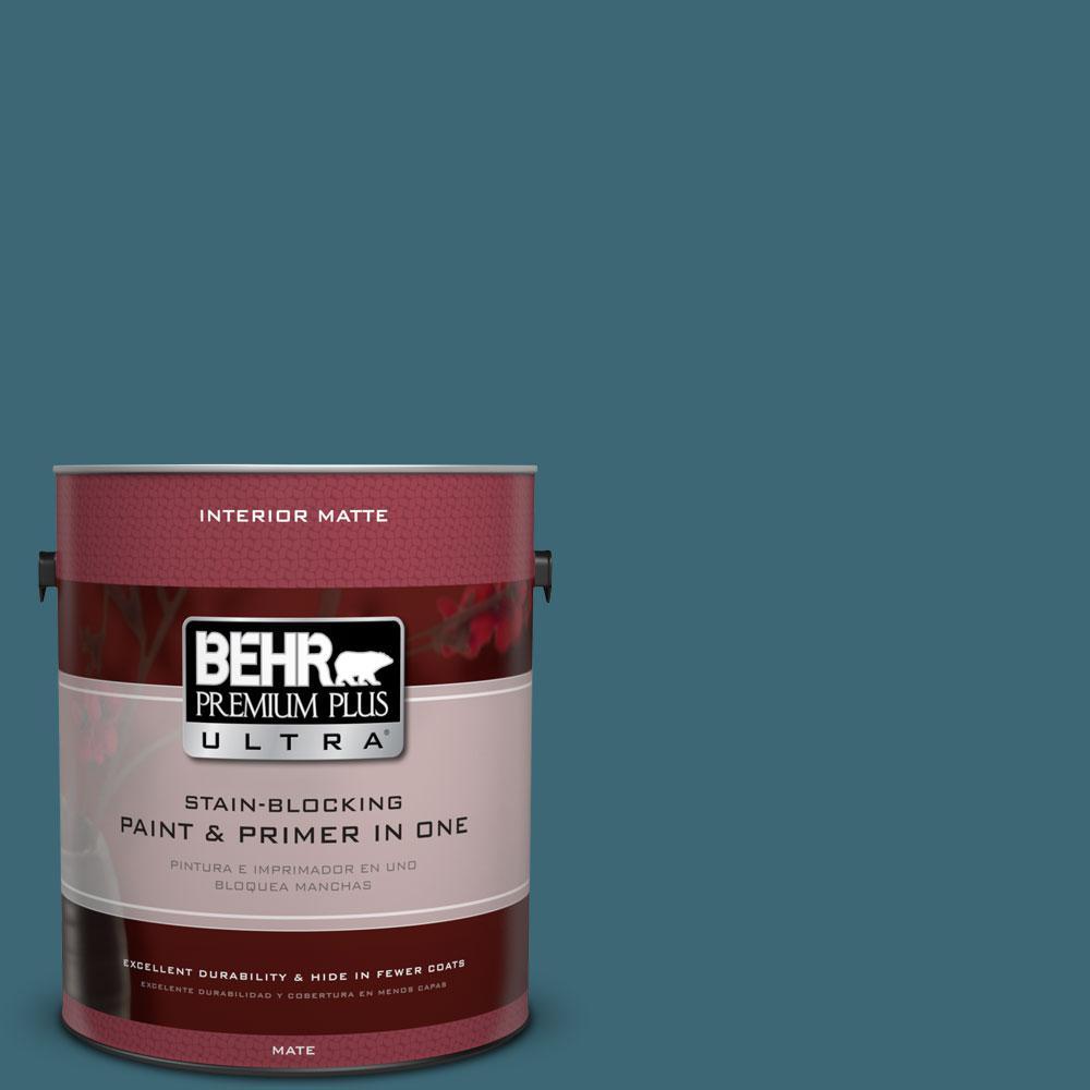 1 gal. #PMD-45 Teal Mosaic Flat/Matte Interior Paint