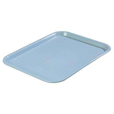 10.75 in. x 13.87 in. Polypropylene Cafeteria/Food Court Serving Tray in Slate Blue (Case of 24)