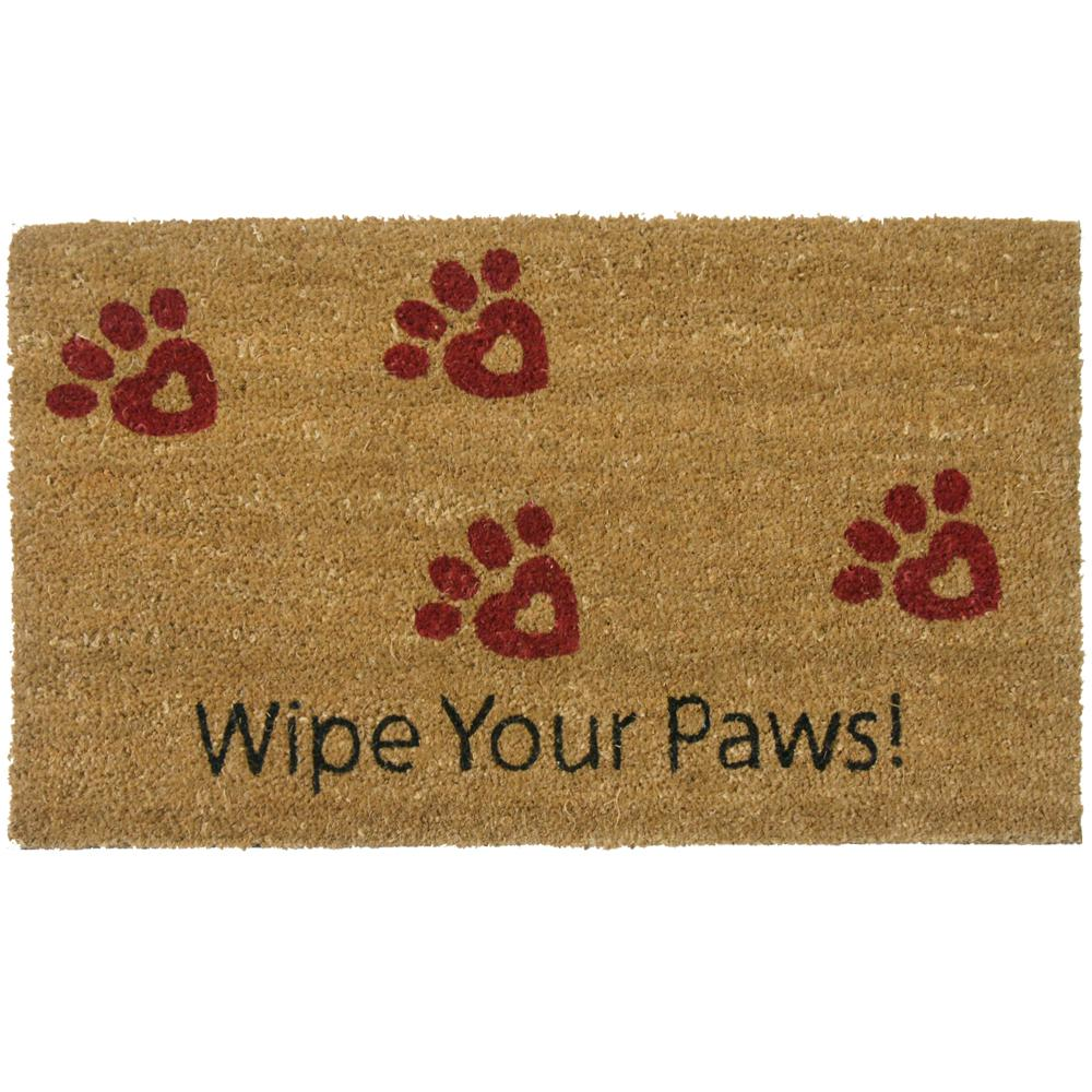 Rubber Cal Wipe Your Paws 30 In X 18 In Door Mat 10 106