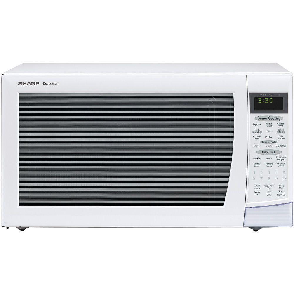 Sharp Carousel 2.0 cu. ft. Countertop Microwave in White with Sensor Cooking-DISCONTINUED