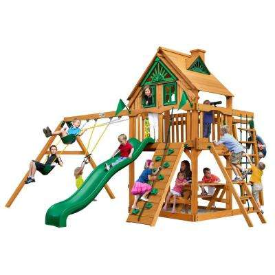 Navigator Treehouse Swing Set with Amber Posts