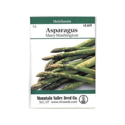 Mary Washington 2 g Asparagus Vegetable Garden Seeds Non-GMO Heirloom Gardening Seed (40-Seeds)