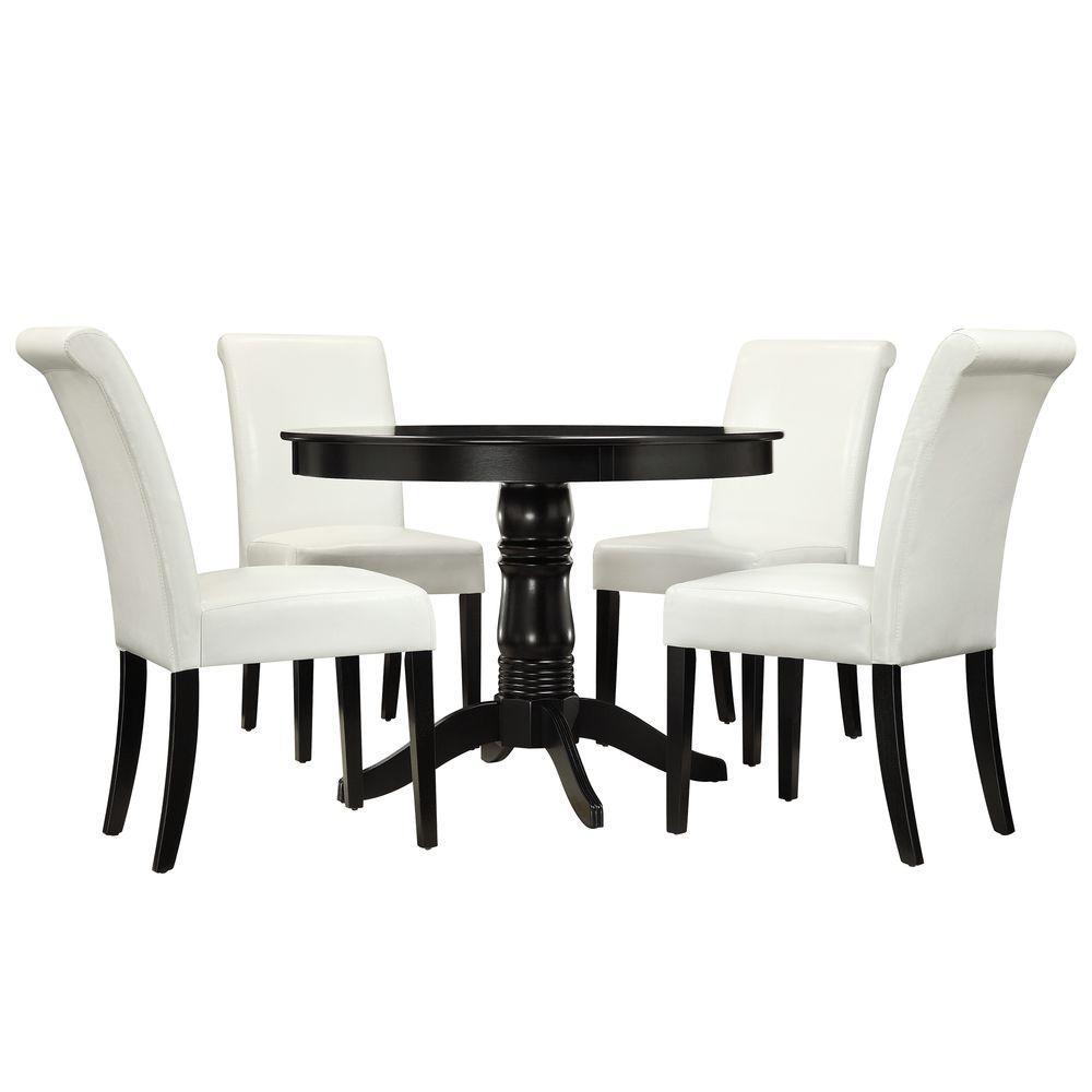 Marist 5-Piece White Dining Set