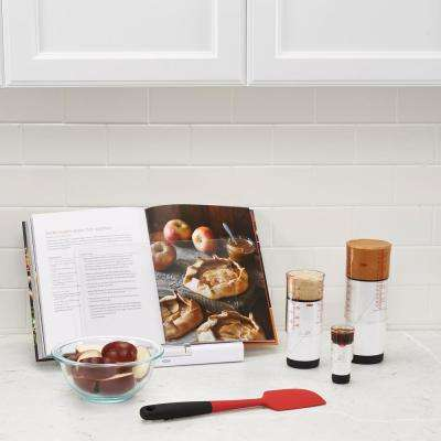 Good Grips White Pop-Up Cookbook Holder with Splatter Screen