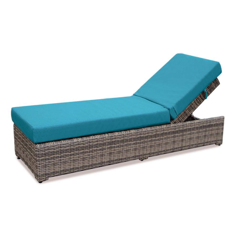 Cherry Hill Patio Chaise Lounge with Spectrum Peacock Cushion